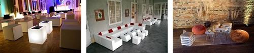 LED Lounge, weiße Lounge, Retro-Lounge